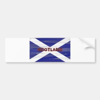 Bandera escocesa pegatina para auto