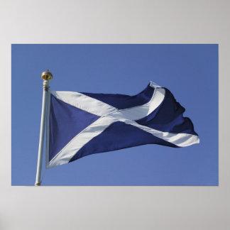 Bandera escocesa póster