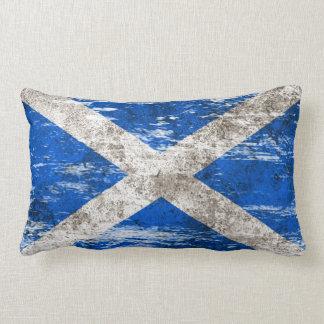 Bandera escocesa rascada y llevada cojín lumbar