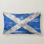Bandera escocesa rascada y llevada cojines