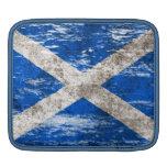 Bandera escocesa rascada y llevada mangas de iPad