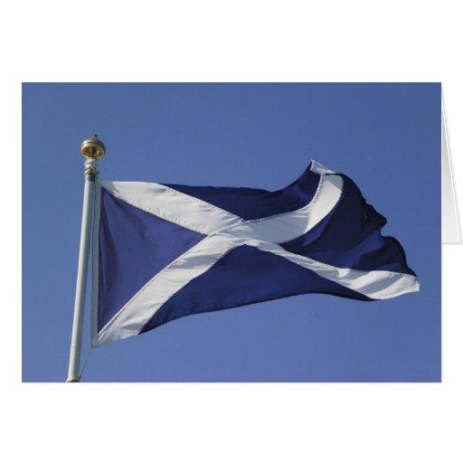 Bandera escocesa tarjetas