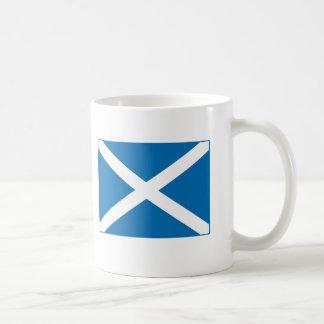Bandera escocesa tazas de café