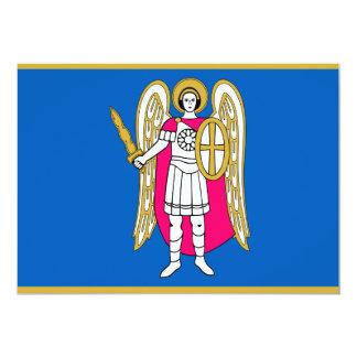 Bandera/escudo de armas de Kiev, Ucrania San Invitación 12,7 X 17,8 Cm