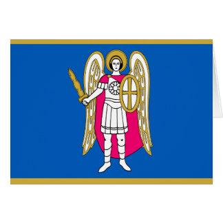 Bandera/escudo de armas de Kiev, Ucrania San Tarjeta Pequeña