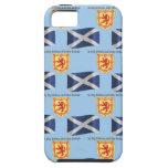 Bandera, escudo y lema de Escocia iPhone 5 Case-Mate Carcasa
