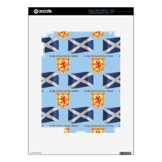 Bandera, escudo y lema de Escocia iPad 2 Skin