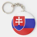 Bandera eslovaca de Eslovaquia en camisetas y para Llavero Personalizado