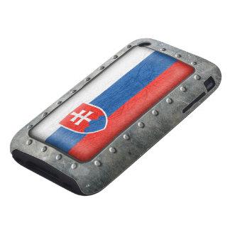 Bandera eslovaca industrial funda though para iPhone 3