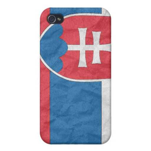Bandera eslovaca iPhone 4/4S carcasa