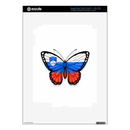 Bandera eslovena de la mariposa pegatina skin para iPad 3
