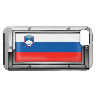 Bandera eslovena en un marco de acero funda para iPhone SE/5/5s