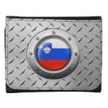 Bandera eslovena industrial con el gráfico de acer