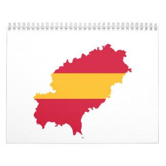 Bandera España del mapa de Ibiza Calendarios