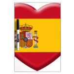 Bandera España Pizarra Blanca