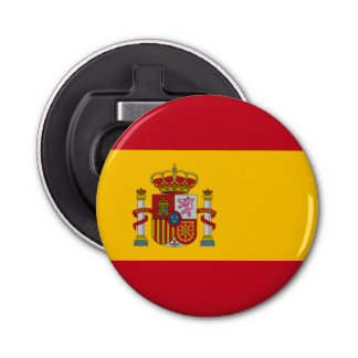 Bandera española abrebotellas redondo