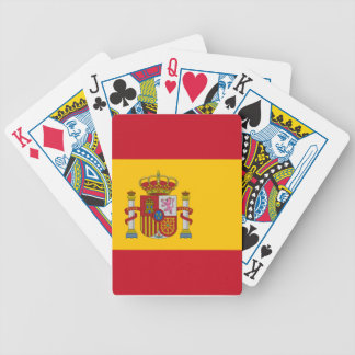 Bandera española barajas de cartas