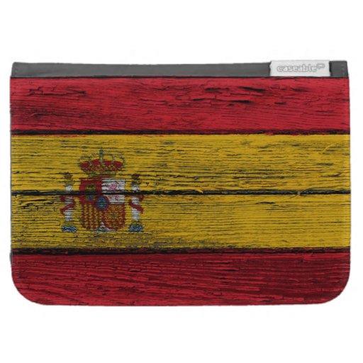 Bandera española con efecto de madera áspero del g