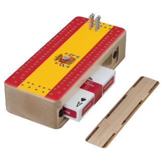 Bandera española cribbage de arce