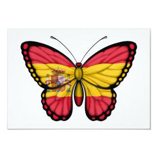 """Bandera española de la mariposa invitación 3.5"""" x 5"""""""
