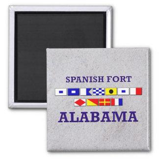 Bandera española del fuerte - imán de Sandy