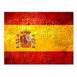 Bandera española del Grunge retro del vintage de E