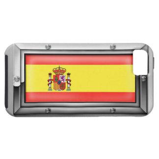 Bandera española en un marco de acero funda para iPhone SE/5/5s