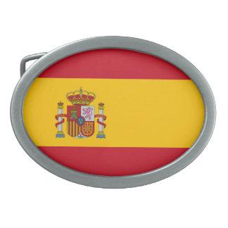 Bandera española hebilla cinturón oval