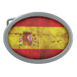 Bandera española hebillas cinturón ovales