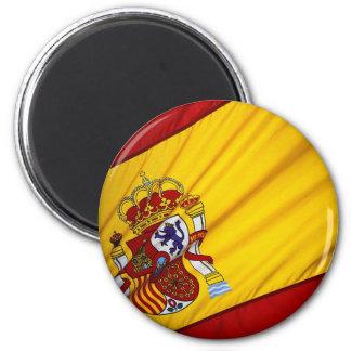 Bandera española imán redondo 5 cm