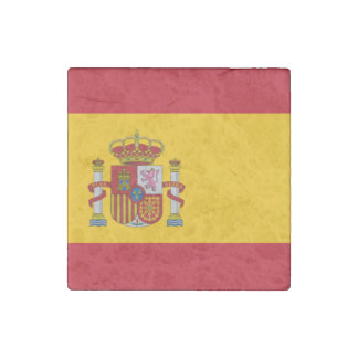 Bandera española imán de piedra