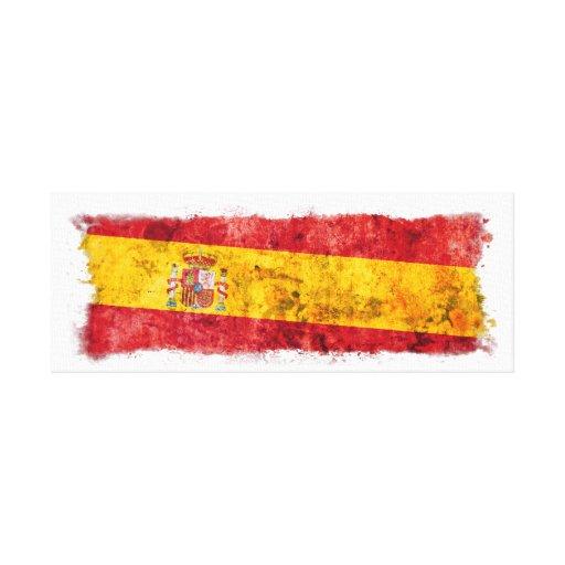 Bandera española impresiones en lienzo estiradas