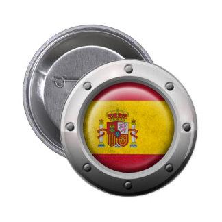 Bandera española industrial con el gráfico de acer