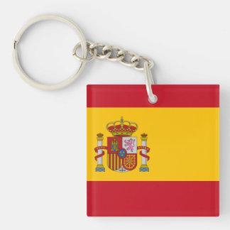 Bandera española llavero cuadrado acrílico a doble cara