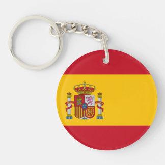 Bandera española llavero redondo acrílico a una cara