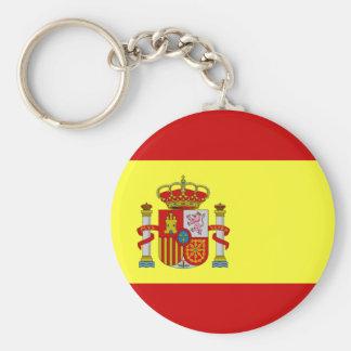 Bandera española llavero redondo tipo pin