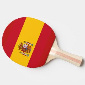 Bandera española pala de tenis de mesa