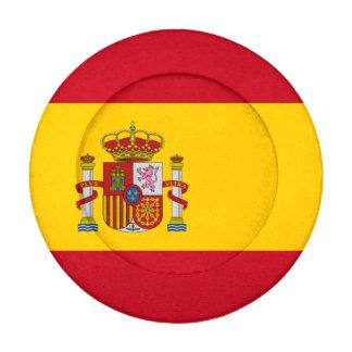 Bandera española paquete pequeño de tapa botones