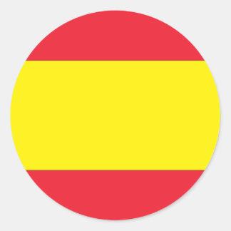 Bandera española pegatina redonda