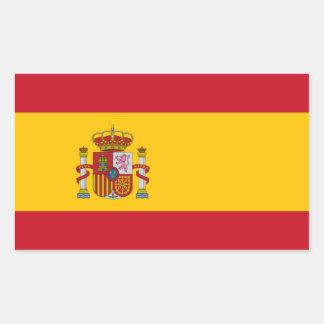 Bandera española pegatina rectangular