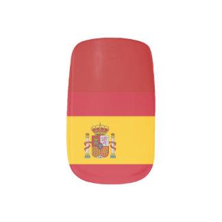 Bandera española pegatina para uñas