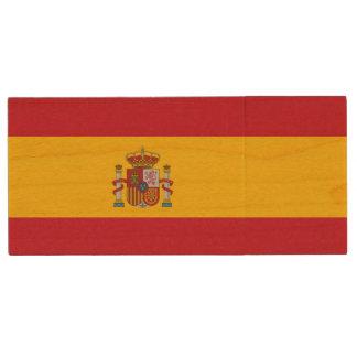 Bandera española pen drive de madera USB 2.0