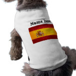 Bandera española playera sin mangas para perro