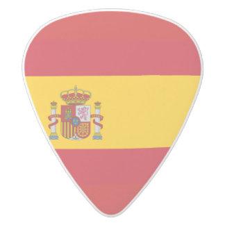 Bandera española plectro de delrin blanco