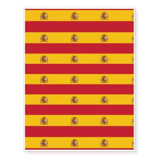Bandera española tatuajes temporales