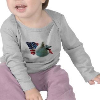 Bandera esquimal americana camisetas
