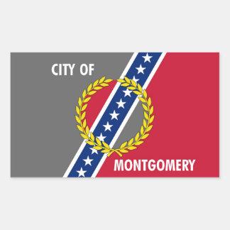Bandera Estados Unidos América de Alabama de la Pegatina Rectangular