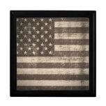 Bandera Estados Unidos del vintage Caja De Joyas