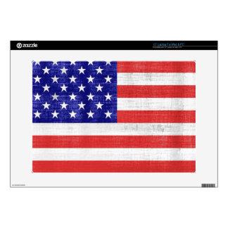 Bandera Estados Unidos del vintage Portátil 38,1cm Skin