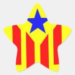 Bandera Estelada Catalana Calcomanía Cuadrada